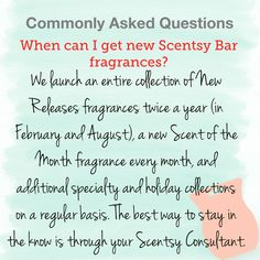 When can I get new Scentsy Fragrances? Scented Wax Warmer, Wax Warmers, Fragrance Mist, Natural Oils, How To Know, Scentsy Fragrances, Things To Sell, Scentsy Bar, Jessie