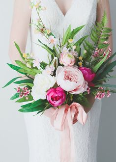 Wedding event favors are as ancient a tradition as wedding events themselves. As basic as sweets or as fancy as miniature golden carriages filled with rose petals, these token presents for those who attend a wedding event have become a huge market. Fake Flowers, Bridal Flowers, Artificial Flowers, Silk Flowers, Beautiful Flowers, Silk Peonies, Peonies Bouquet, Peony, Hand Bouquet