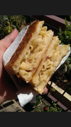 Cannabis infused grilled Mac n' Cheese w/ Parmesan crust  #yum