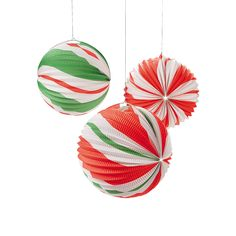 Peppermint Candy Balloon Lanterns - OrientalTrading.com Thinking about these for Nathan's Cut The Rope Party