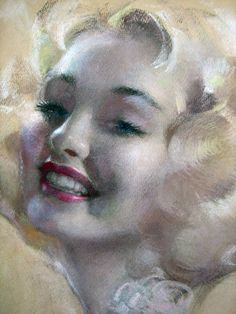 Smiling High Society Glamour Portrait by Rolf Armstrong