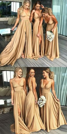 Sexy A-line Side Slit Long Burgundy Bridesmaid Dresses, Cheap Bridesmaid Sexy A-line Side Slit Long Burgundy Bridesmaid Dresses, Cheap Bridesmaid - Sexy Mismatched Side Slit Long Gold Bridesmaid Dresses, Source by - Burgundy Bridesmaid Dresses Cheap, Champagne Bridesmaid Dresses, Gold Bridesmaids, Beach Wedding Bridesmaid Dresses, Bridemaid Dresses Long, Different Bridesmaid Dresses, Long Dresses, Bridesmaid Outfit, Wedding Dress With Gold