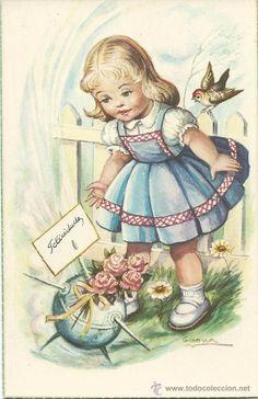 POSTAL EDICIONES PAJARITA 2345/F.-ILUSTRADOR GIRONA (Postales - Dibujos y Caricaturas)