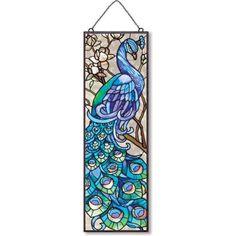 Amazon.com: Joan Baker Designs AP201 Peacock Glass Art Panel, 5 by 16-Inch