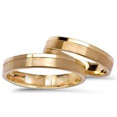 Złote obrączki,  Model 269 Engagement Rings Couple, Couple Rings, Wedding Ring Designs, Ring Verlobung, Wedding Bands, Marie, Gold Rings, Mens Fashion, Weddings