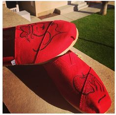 Custom hand painted TOMS