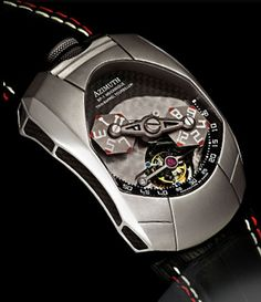 """➳➳➳♡ Inspired by the most hard core contemporary super cars that only the most well heeled and affluent watch connoisseurs can appreciate, Azimuth """"Twin Barrel Tourbillon"""" (TBT) represents a brand new era of """"micro-machine making"""". It is not a watch; we never intended it to be so; it's a complex modern machine that draws its inspiration from the sexy silhouettes and raw muscle power of the various marques in the high end market of super cars. Find it at ZuluTimeZone.com"""