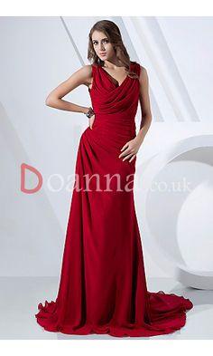 Sheath Cowl Sleeveless Burgundy Floor-Length Long Formal Evening Prom Dresses UK DO21307P11426 £109.95