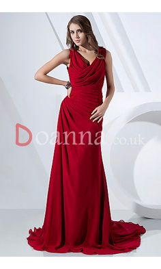 Sheath Cowl Sleeveless Burgundy Floor-Length Long Formal Evening Prom Dresses UK DO21307P11426 £109.95