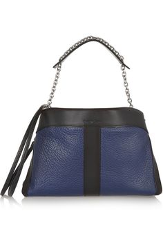 See by ChloéBeckie two-tone textured-leather shoulder bag