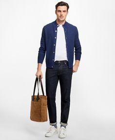 b2243a4c84 Supima® Stretch Denim Straight Fit Jeans - Brooks Brothers
