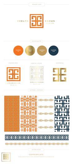 Emily McCarthy Branding Design | Evelyn Eshun Design Branding Board