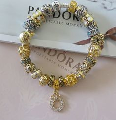 GREAT Christmas Gift Authentic Pandora Bracelet by ExquisiteAellas, $99.99