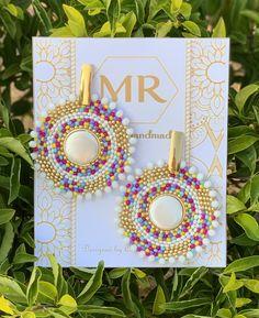 Seed Bead Earrings, Flower Earrings, Beaded Earrings, Statement Earrings, Seed Beads, Beaded Jewelry, Beaded Bracelets, Bead Embroidery Jewelry, Beaded Bracelet Patterns