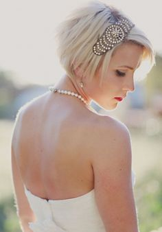 Short Hair: The Last Frontier | Intimate Weddings - Small Wedding Blog - DIY Wedding Ideas for Small and Intimate Weddings - Real Small Weddings