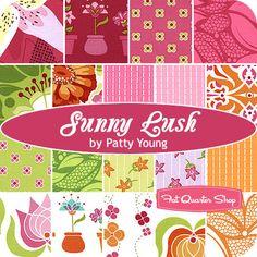 $61.50 for 19 fats Sunny Lush Fat Quarter Bundle Patty Young for Michael Miller Fabrics - Fat Quarter Shop