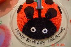 Lady-Bug Birthday Cake