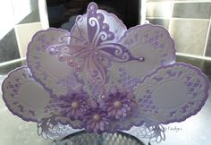 using marianne dies, flowers from joys crafts, daisy die, fan blade-stand and butterfly from marianne designs just stunning
