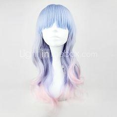 Lolita Wigs Sweet Lolita Color Gradient Medium Pink / Blue Lolita Wig 55 CM Cosplay Wigs Patchwork Wig For Women 2017 - $10.79