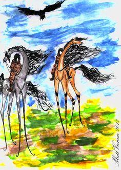 Nomads A4, watercolor, photoshop  Music: Biopsyhoz - Davai