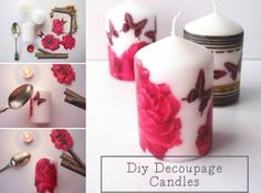 Decoupage Candles Tutorial