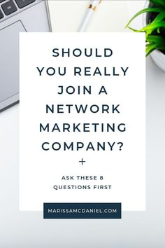 Network marketing can work as long as you find the right company for you. Check out these 8 questions to ask before joining a network marketing company. What Is Mlm, What Is Network, Questions To Ask, This Or That Questions, Network Marketing Quotes, Accounting Jobs, Feeling Frustrated, Marketing Opportunities, Business Money