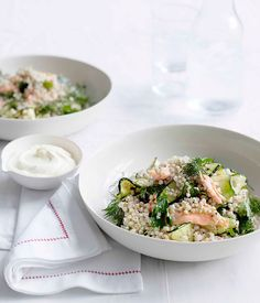 TOASTED BUCKWHEAT AND SMOKED TROUT SALAD via @gourmetpins