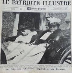 Carlota de México (izquierda).