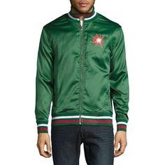 Laboratory Lt Man Men s Embellished Varsity Jacket ( 44) ❤ liked on  Polyvore featuring men s fashion, men s clothing, men s outerwear, men s  jackets, ... ca7a080ff69
