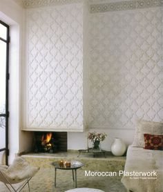 Beautiful Moroccan plaster work that you can purchase online. Gasp.
