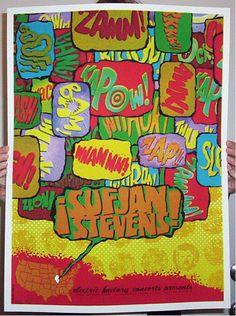 """Sufjan Stevens by Todd Slater (s/n edition of 200). Inspired by album """"Illi-Noise"""""""