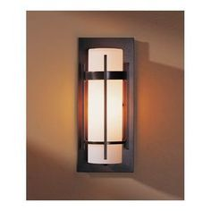 Hubbardton Forge H30589220H66 Banded Entrance Outdoor Wall Light - Natural Iron
