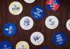 Seafarers & Ostro Restaurants Bar — The Dieline - Package Design Resource