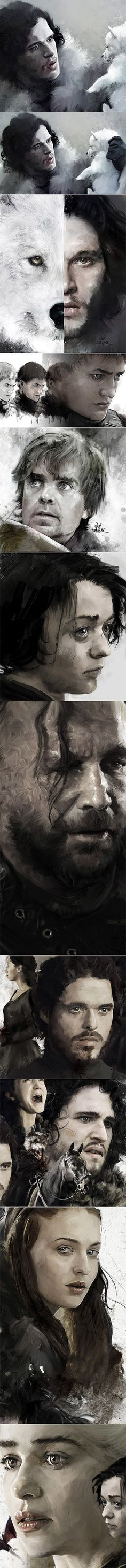 Artwork 'Game Of Thrones' on Behance Vlad Rodriguez