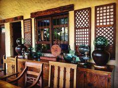 capiz windows for interior design Filipino Architecture, Philippine Architecture, Tropical Architecture, Filipino Interior Design, Home Interior Design, Interior Decorating, Filipino House, Philippines House Design, Philippine Houses
