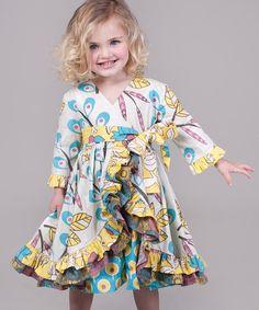 Yellow & Aqua Dazzle Jordan Dress - Infant, Toddler & Girls   Daily deals for moms, babies and kids