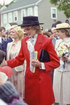 June 16 1983 Prince Charles and Princess Diana visit Canada. Shelburne, Nova Scotia