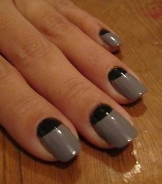 Paint my nails - in the trendy half moon design?  Or no?