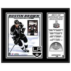 "Dustin Brown Los Angeles Kings Fanatics Authentic 12"" x 15"" 2012 Stanley Cup Champions Sublimated Plaque with Game-Used Melted Ice - Limited Edition of 150 - $47.99"