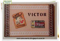 Quadro decorativo beer madeira http://amocarte.blogspot.com.br/