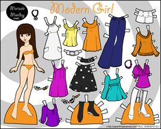 Marisole Monday: Modern Girl by Rachel Cohen Paper Toys, Paper Crafts, Rachel Cohen, Montessori, Paper Dolls Printable, Pinup Girl Clothing, Retro Pin Up, Dress Up Dolls, Homemade Christmas Gifts