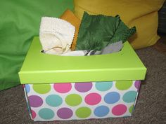 fabric box....much better than emptying a whole box of kleenex!