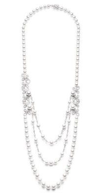 Piaget Couture Précieuse necklace Magnificent Adornments Inspiration in 18K white gold set with 593 brilliant-cut diamonds (approx. 11.43 cts) and 98 Akoya white pearls.
