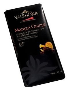 Valrhona Manjari orange chocolate bar - Chocolate Trading Co    Valrhona have combined their very fruity, Manjari chocolate with tangy fresh orange to produce a chocolate bar of outstanding flavour. Bursting with fruit flavours and rich chocolate undertones.