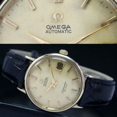 1963s Vintage OMEGA Seamaster DeVille Automatic Date 14k Gold Mens Watch