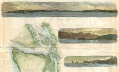 willigula:    Detail from a U.S. Coast Survey mapof Washington & Oregon, 1855  This is another beautiful example ofusinglocale specific imagery in a map.