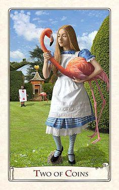 Alice in Wonderland Tarot card...