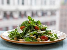 Wild Arugula and Chickpea Salad: This salad is great for its contrasting textures. The light, peppery arugula leaves, the crisp fennel, juicy grape tomatoes and chickpeas all come together with an easy dressing for a quick and healthy meal.
