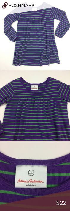 NWT Hanna Andersson Blue Beach Cat Appy Tank Top//Shirt Girls Size 110 5