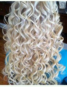Blonde Curly Perm Blonde Curly Perm Sure, the bushy perms of the m Curly Perm, Long Curly Hair, Wavy Hair, Curly Hair Styles, Short Permed Hair, Super Curly Hair, Loose Spiral Perm, Spiral Perms, Perms Before And After